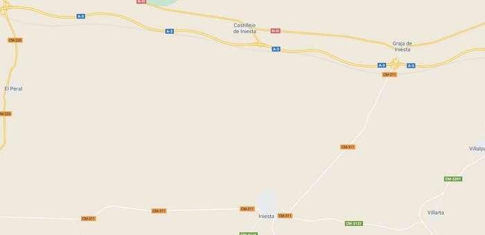 Fallece una persona tras salirse de la vía con su motocicleta en Iniesta (Cuenca)