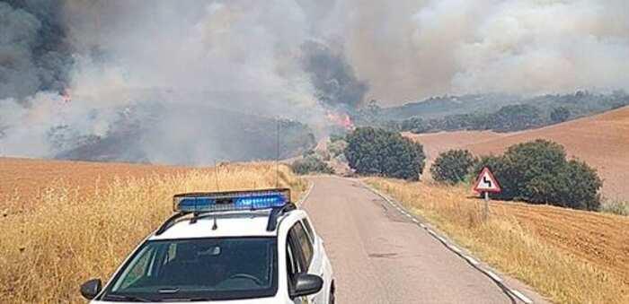 Detenido un hombre que hacía chapuzas en el campo por negligencia tras el fuego entre Madrid y Guadalajara