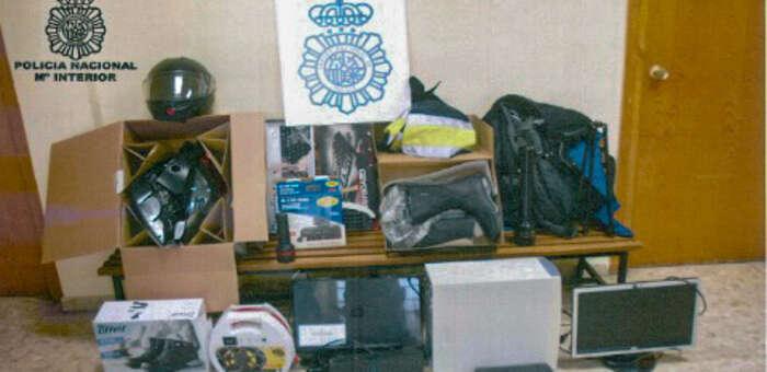 Detienidos los autores de varios robos en viviendas y garajes de Puertollano