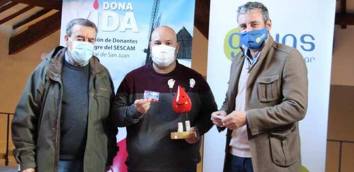 La Asociación de Donantes de Sangre concede un Gotito a Aguas de Alcázar por su colaboración en la donación de sangre