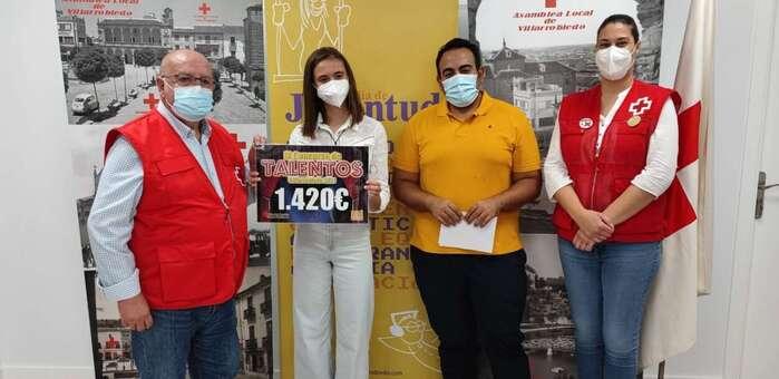 Cruz Roja Villarrobledo recibe 1,420 euros de la recaudación por el Concurso de Talentos de 2021