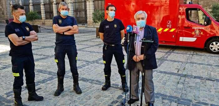 El Ayuntamiento de Toledo incorpora a Bomberos un primer furgón eléctrico y avanza una nueva bomba nodriza y un vehículo especial para el Casco