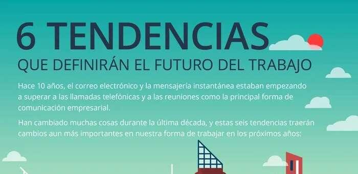 Seis tendencias que definirán el trabajo en el futuro (infografía)