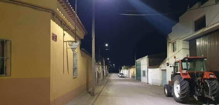 El cambio de luminarias en Villarrobledo comienza en el Barrio Virgen de la Caridad