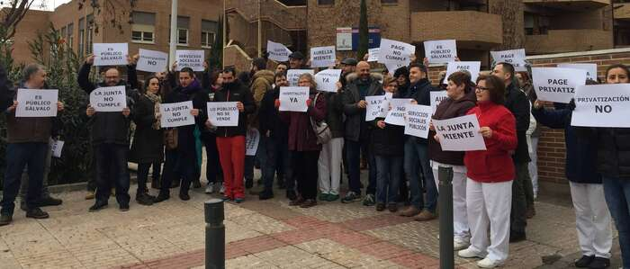 Los trabajadores de Bienestar Social se movilizan para exigir la apertura del Hospitalito del Rey en Toledo y el CADIG Las Moreras de Talavera con gestión pública directa