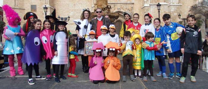 Originalidad y alta participación en el Concurso de Máscaras Infantiles de Valdepeñas