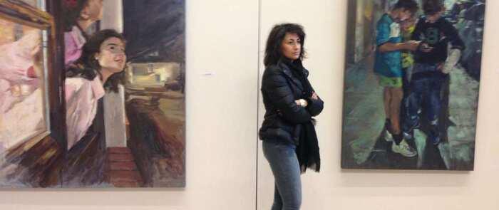 Antonia Valero expone su obra en la Biblioteca Pública del Estado de Ciudad Real