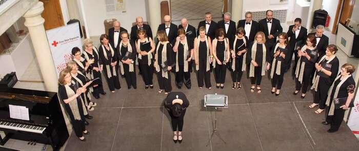 El Coro de Voces Doradas de Alcázar colaboró con Cruz Roja en la campaña del Sorteo del Oro