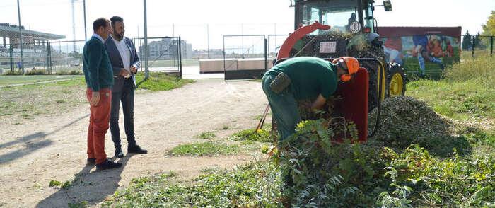 Reutilizado en Azuqueca casi el cien por cien de los residuos de poda en parques y jardines