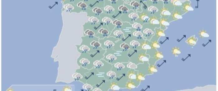 Lluvias, frío, nieve y viento propios del invierno por las sucesivas borrascas en la cuarta semana de la primavera