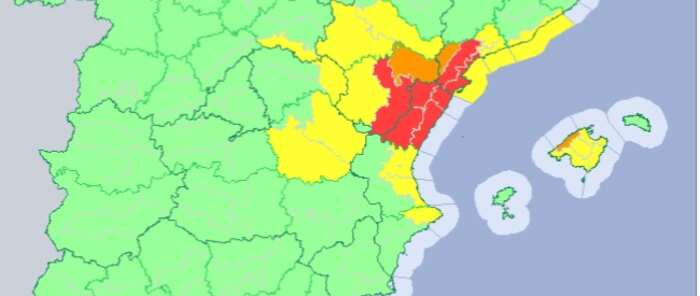 Se mantiene el aviso amarillo este viernes por lluvias localmente fuertes en partes de las provincias de Cuenca y Guadalajara