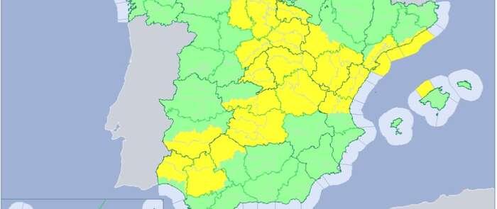 Avisos en Castilla-La Mancha por precipitaciones persistentes que pueden acumular en torno a los 40 litros en 12 horas