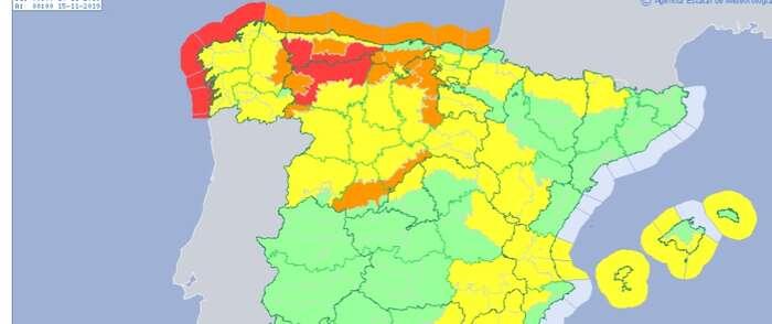 Protección Civil y Emergencias alerta por nevadas intensas y fuerte temporal marítimo en el norte peninsular