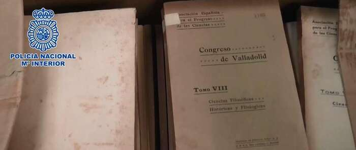 La Policía Nacional recupera cientos de documentos del archivo de Juan de la Cierva y Peñafiel desaparecidos desde 1998