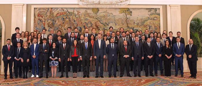 El presidente de aje ciudad real, en la audiencia del rey a los jóvenes empresarios españoles