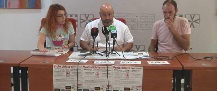 Presentada en Alcázar la Ruta en Bici que forma parte de las Jornadas de Cine solidario que se celebra durante el mes de octubre