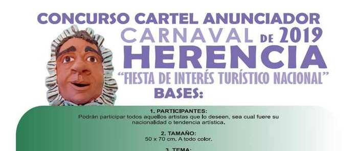 Abierto en Herencia el plazo de presentación de candidaturas para el Cartel de Carnaval 2019