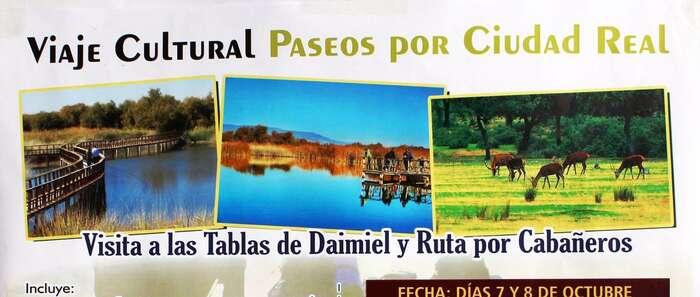 """Viaje Cultural """"Paseos por Ciudad Real"""" - Visita a las Tablas de Daimiel y Ruta por Cabañeros"""