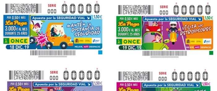 Cupones con mensaje que ayudan a evitar accidentes de tráfico