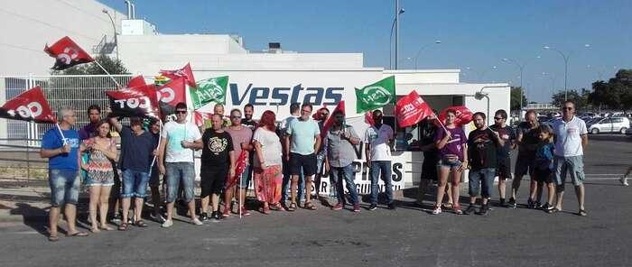 CSIF se suma a la protesta de los sindicatos en Vestas de Daimiel