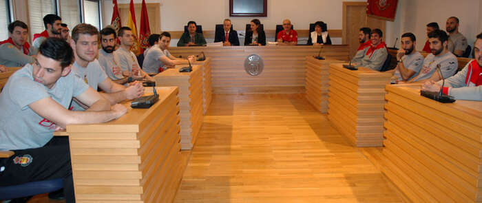 La selección española de balonmano recibida oficialmente en el Ayuntamiento de Ciudad Real