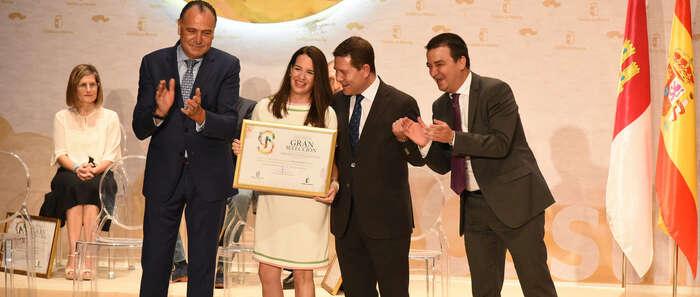 Ramón García, Chechu Biriukov, Mostos Españoles y José Moura Selections de EEUU, galardones Cultural, Deportivo y Empresariales de los 12 Premios Vinos Ojos del Guadiana