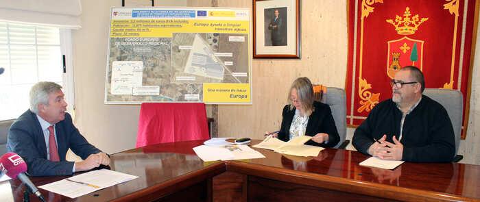 Suscrito el convenio para la construcción de la nueva depuradora en Villafranca de los Caballeros