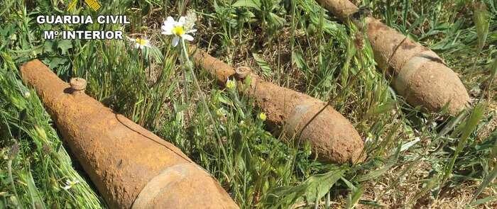 Desactivadas tres granadas de mortero originarias de la Guerra Civil en Copernal (Guadalajara)
