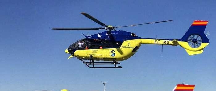 Los medios aéreos del Sescam han atendió hasta finales de julio 1.218 situaciones de emergencias sanitarias