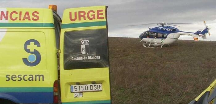 Un herido grave en Vellisca (Cuenca), al salirse su vehículo de un camino