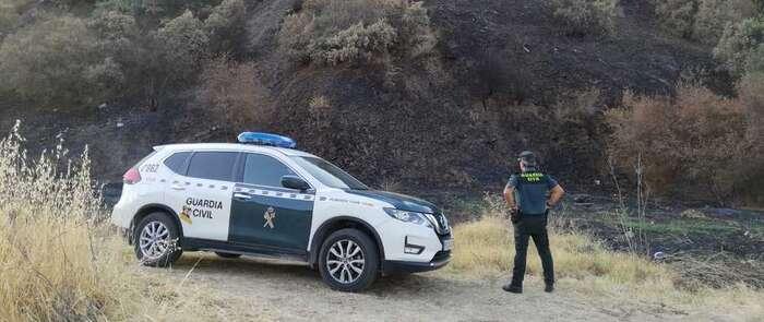 La Guardia Civil detiene al presunto autor del incendio ocurrido en el paraje Las Palomeras-Huerto del Pino