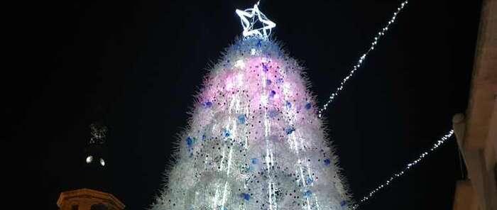 Un árbol sostenible e inclusivo enciende la Navidad en Valdepeñas