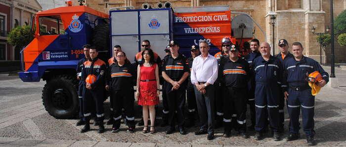 Protección Civil Valdepeñas aumentó su operatividad, con 3.650 horas, por cuarto año consecutivo
