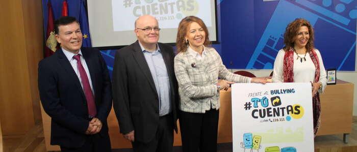 """El Gobierno regional presenta el programa """"#TuCuentas"""" de atención integral ante el acoso y ciberacoso en la provincia de Albacete"""