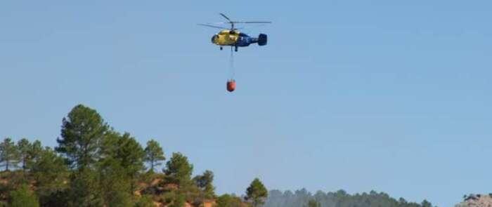 Activado el Plan Infocam tras un incendio forestal declarado en Almorox (Toledo)