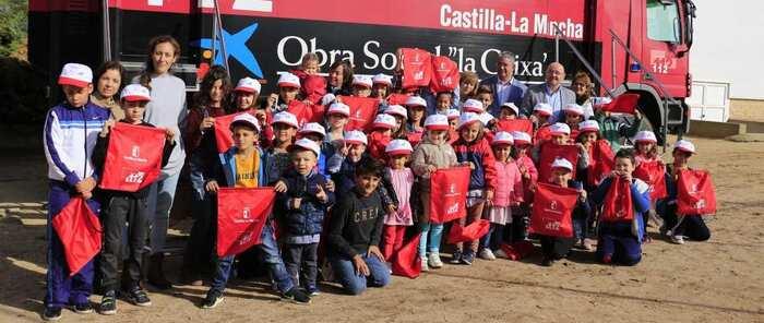 Los escolares de la localidad toledana de San Martín de Montalbán conocen el Servicio de Emergencias 1-1-2