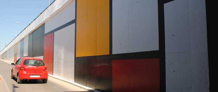 Las pinturas de Mondrian inspiran la nueva decoración del paso subterráneo de Torrecillas en Valdepeñas