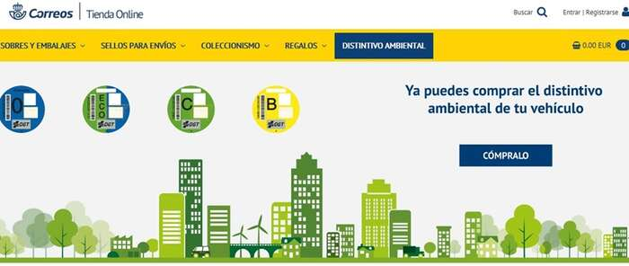 CORREOS vende más de 550.000 etiquetas ambientales en sus oficinas