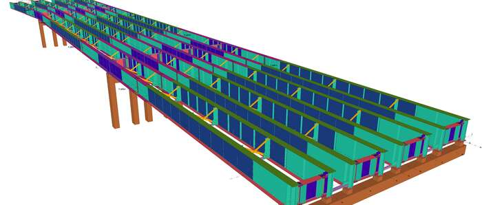 La empresa  tomellosera Anro contruye la estructura metálica de un nuevo puente de ciento cincuenta metros en Irlanda