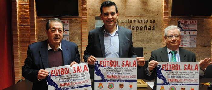 Valdepeñas acogerá la final del Campeonato de España de Fútbol Sala de Selecciones Autonómicas Sub-16