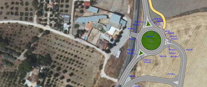 """Martín afirma que la nueva rotonda de Valdepeñas """"revitalizará El Peral dentro de las inversiones que estamos haciendo"""""""