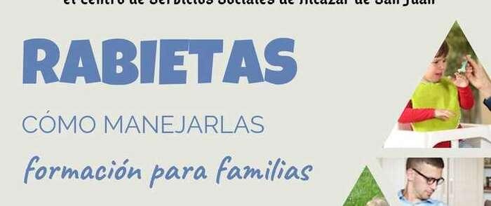 Taller de formación en Alcázar para familias: Rabietas, cómo manejarlas