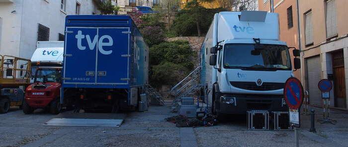 TVE tiene todo listo en Cuenca para retransmisión de la procesión de Paz y Caridad del Jueves Santo