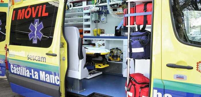Un  fallecido y un herido tras una colisión entre dos turismos en San Clemente (Cuenca)