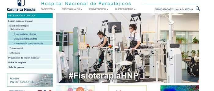 renovada la web del Hospital Nacional de Parapléjicos con un diseño actual, sencillo e intuitivo