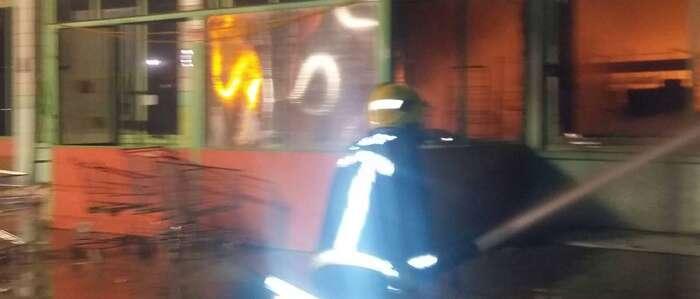 Se incendia una nave en Carrión de Calatrava