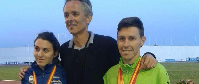 Juan Antonio Pérez y su hermana María José Pérez, campeon y subcampeona de España de 10.000 metros