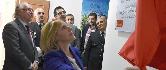 El presidente de la Diputación inaugura en Santa Cruz de Mudela las nuevas instalaciones de la Policía Local