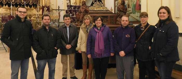 Imagen: Carmen Olmedo visita la cofradía de Nuestro Padre Jesús Nazareno