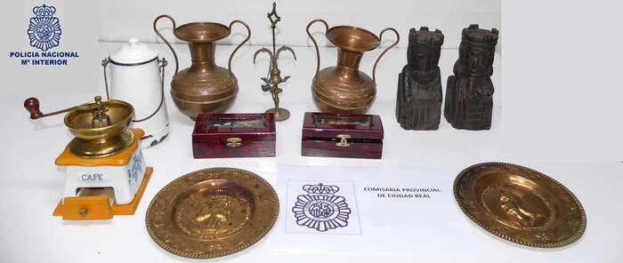 La Policía Nacional detiene en Ciudad Real a un individuo por robo con fuerza de objetos antiguos